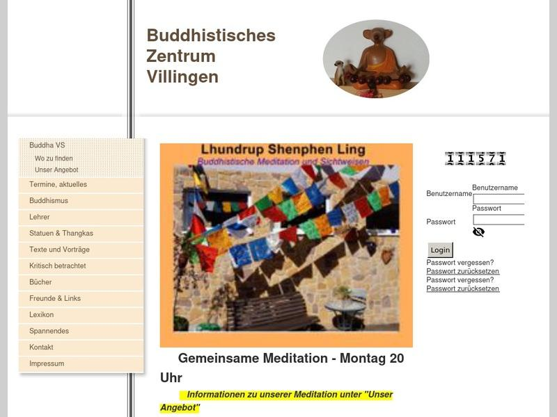 Screenshot von www.buddha-vs.de